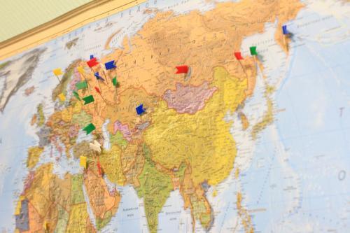 Карта географии наших гостей