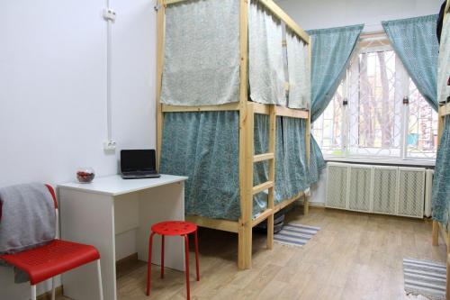 Общий четырехместный номер в хостеле Измайловский Парк